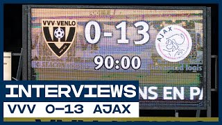 🤯 0-13! | Ten Hag, De Koning, Blind en Swinkels | Interviews | VVV - Ajax | Eredivisie