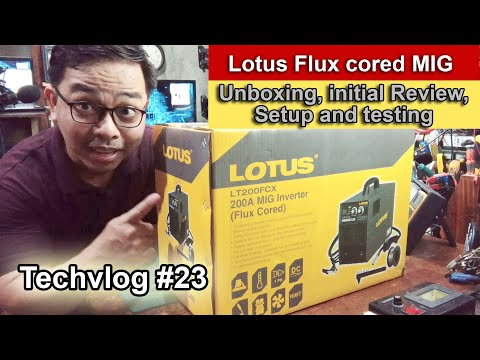 Lotus Gasless Mig Welder(Flux cored) Initial review and setup