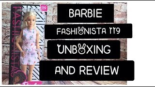 BARBIE FASHIONISTA 119 UNBOXING AND REVIEW - ADULT COLLECTOR