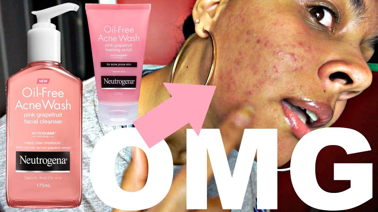 Pink Grapefruit Neutrogena Face Wash Disaster Youtube