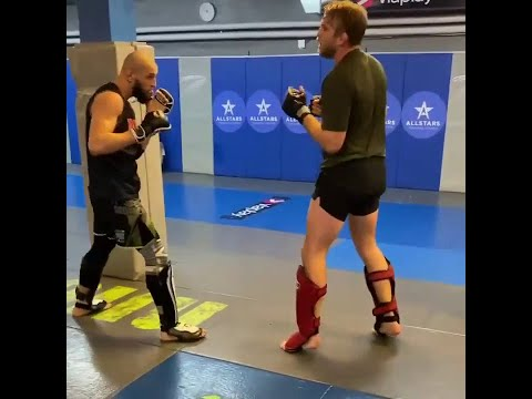Khamzat Chimaev sparring with training partner Alexander Gustafsson ahead of Leon Edwards fight