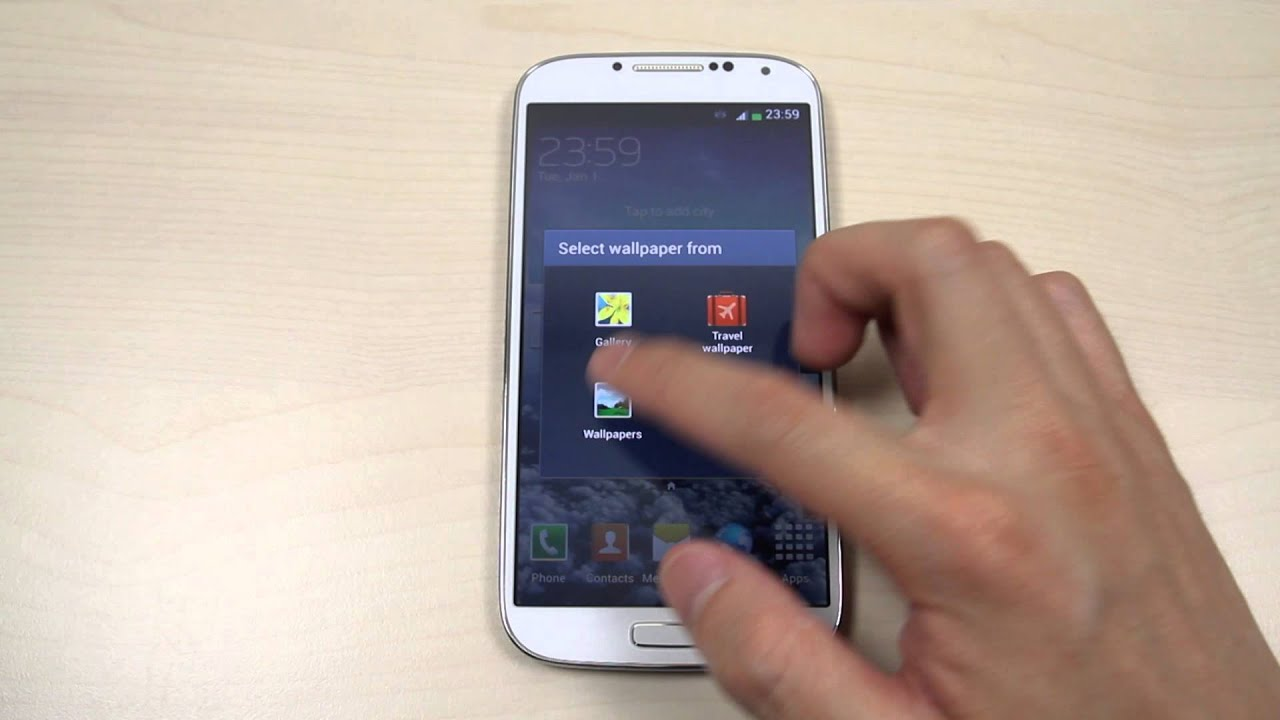 how to change the home screen and lock screen wallpaper on samsung galaxy s4 gt i9500 gt i9505 youtube