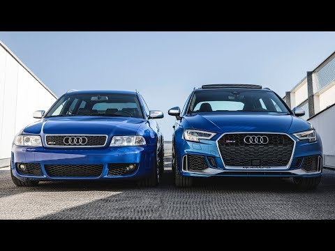 NEW MEETS AN ICON - 2018 AUDI RS3 SB vs AUDI RS4 B5 AVANT (5cylinder vs BiTurbo)