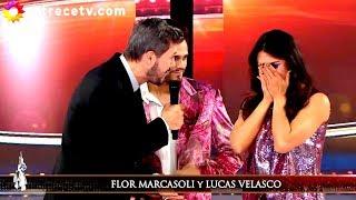 Flor Marcasoli llegó a la pista con lágrimas en los ojos junto a Lucas Velazco