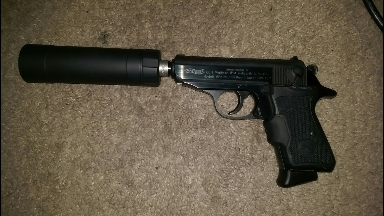 Walther ppk/s .380 suppressed with ti-rant 9s - YouTube