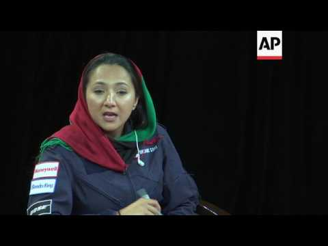Pilot on world trip inspires young women in Kabul
