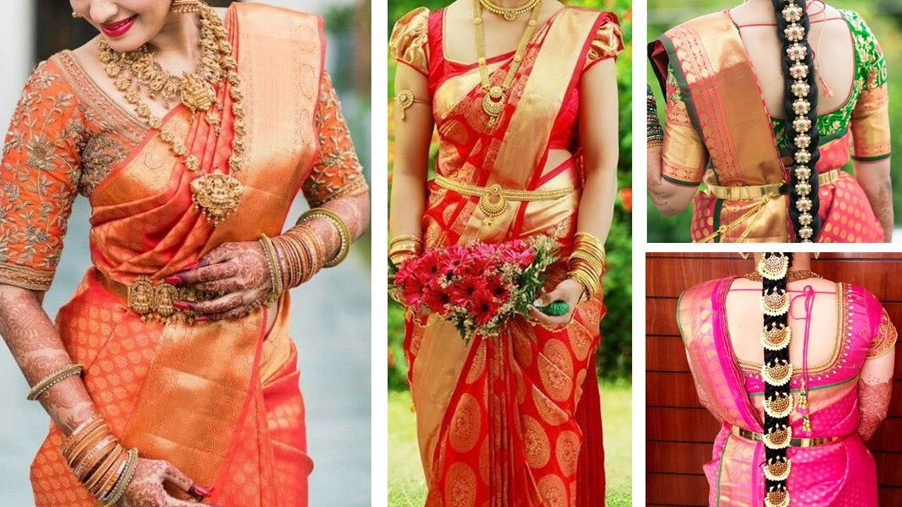 Blouse designs saree blouse back designs blouses neck designs 30 jpg - South Indian Bridal Blouse Neck Designs Top 30 Bridal Blouse Design Collections For Silk Saree