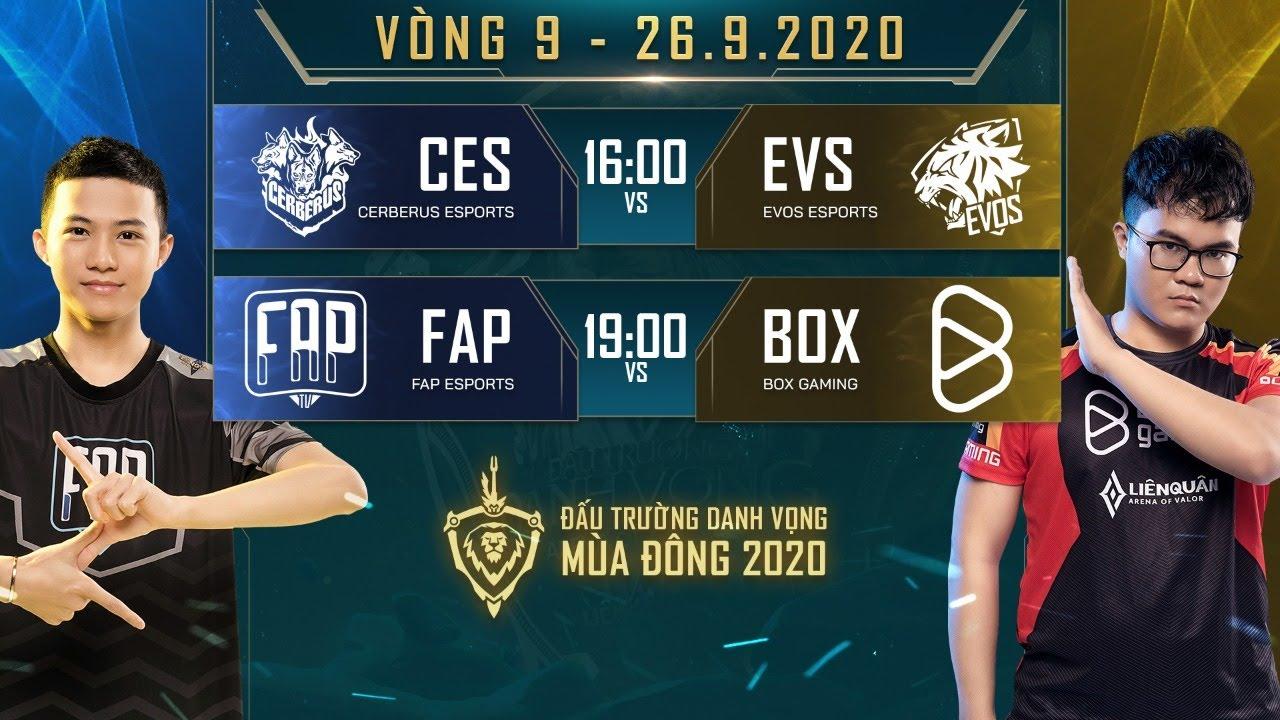 CES hạ gục EVS dễ dàng, FAP lật kèo ngoạn mục trước BOX - Vòng 9 Ngày 1 - ĐTDV mùa Đông 2020