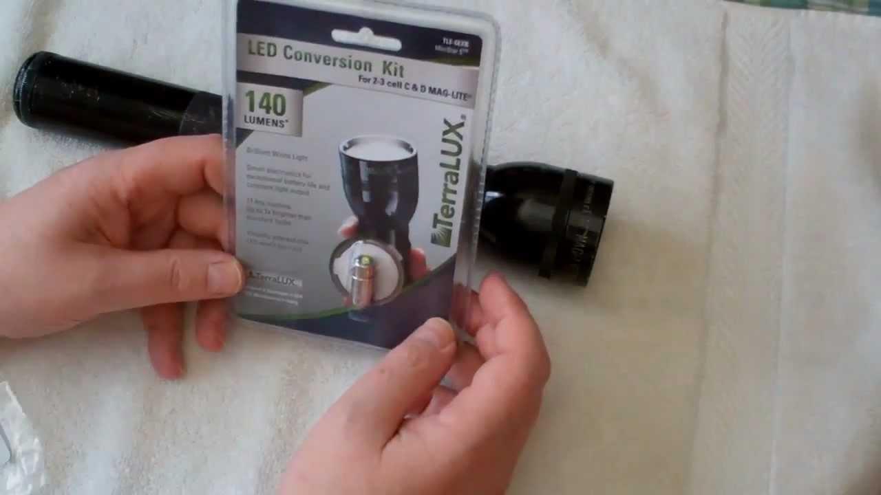 Mag Lite D Cell Flashlight Terralux Led Bulb Conversion