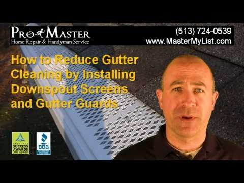 Downspout Screens and Gutter Guards Installation - ProMaster Home Repair