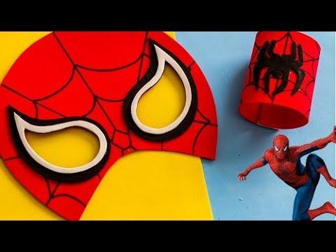 Mascara Homem Aranha E Bracelete Diy Artecomeva Youtube
