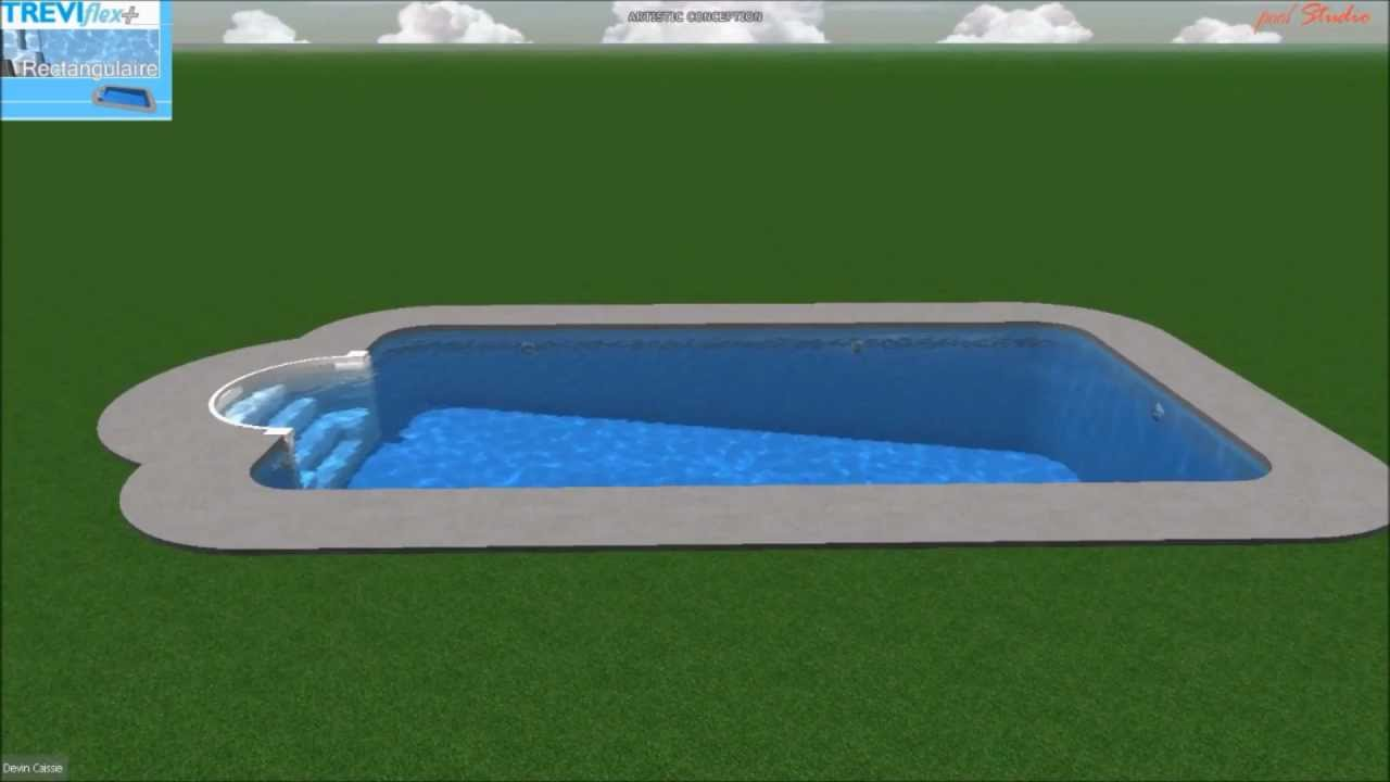Piscine tr vi flex rectangulaire youtube for Piscine trevi