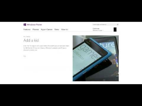 Adding a Child Account for Windows Phone