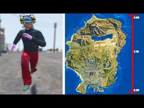 Quanto tempo leva para atravessar o Mapa do GTA 5 Correndo?