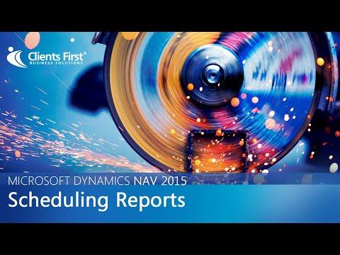 Microsoft Dynamics NAV 2015 Scheduling Reports Video
