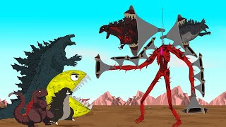 Godzilla Earth , Shin Godzilla vs PAC: Siren Head BOSS Attack Swallow ALL [P4]- Godzilla Animation
