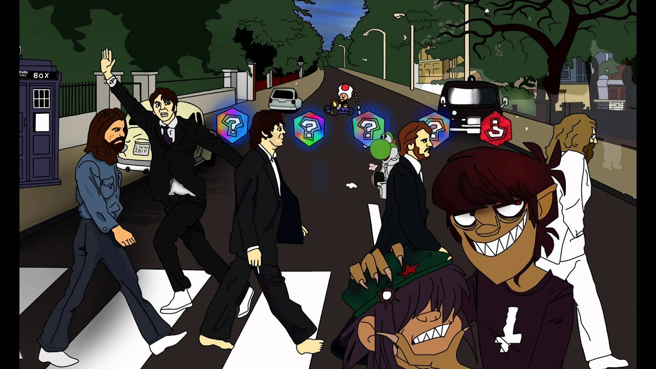 Road drawing abbey beatles