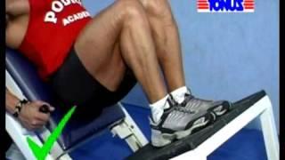 Técnica de execução de exercícios Coxas /  Glúteo