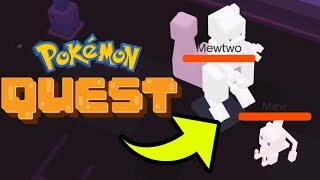 How To Beat Mew & Mewtwo SECRET FINAL BOSS In Pokemon Quest! [Nintendo Switch/Android/IOS]