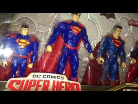 DC Comics Super Hero Showdown Superman 5 Pack Action Figure Review Batman V Superman JLU Total Hero