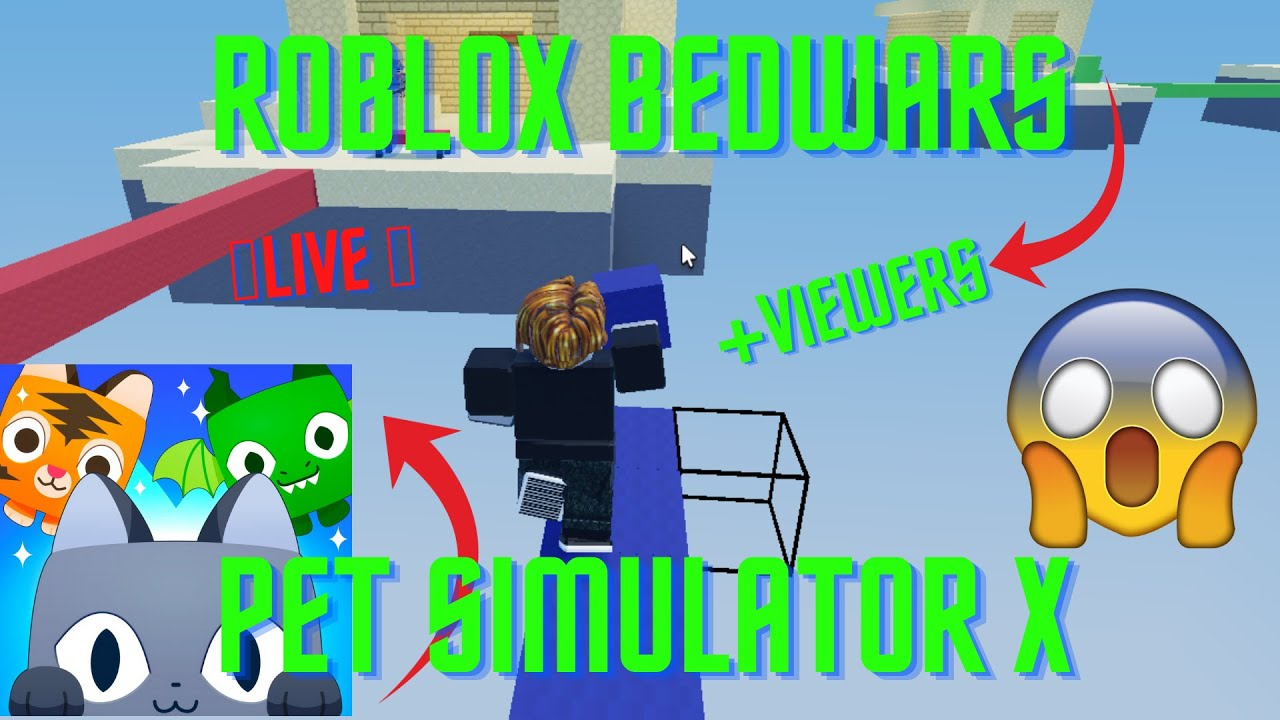 [LIVE] Roblox Pet Sim X + Roblox Bedwars COME AND JOIN NOW #Roadto2K