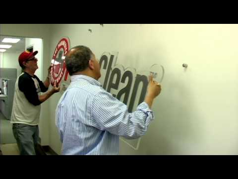 Custom Dimensional Letters/Logo Lobby Signage Installation
