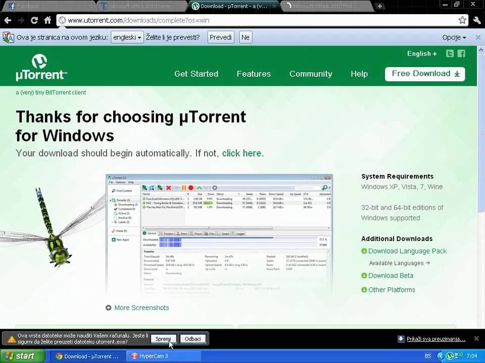 utorrent download free for windows xp