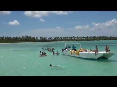 Llegando a la piscina natural en República Dominicana