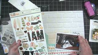 Scrapbooking Process Video from Start to Finish!  I Am.... GIVEAWAY CLOSED 3/30/15 AT 4:43 PST