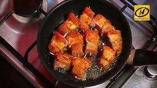 Вкусные сырные кубики - лёгкий рецепт.