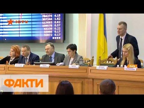 ЦИК объявляет официальные результаты первого тура выборов