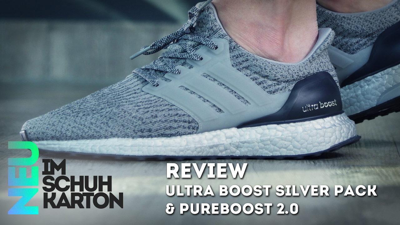 486a22bc7cf0a ... new arrivals adidas ultra boost silver pack pure boost 2.0 ltd review  youtube b067c 27d2f