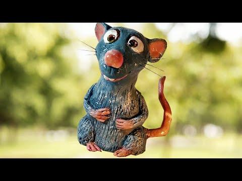 Как сделать крысу из пластилина