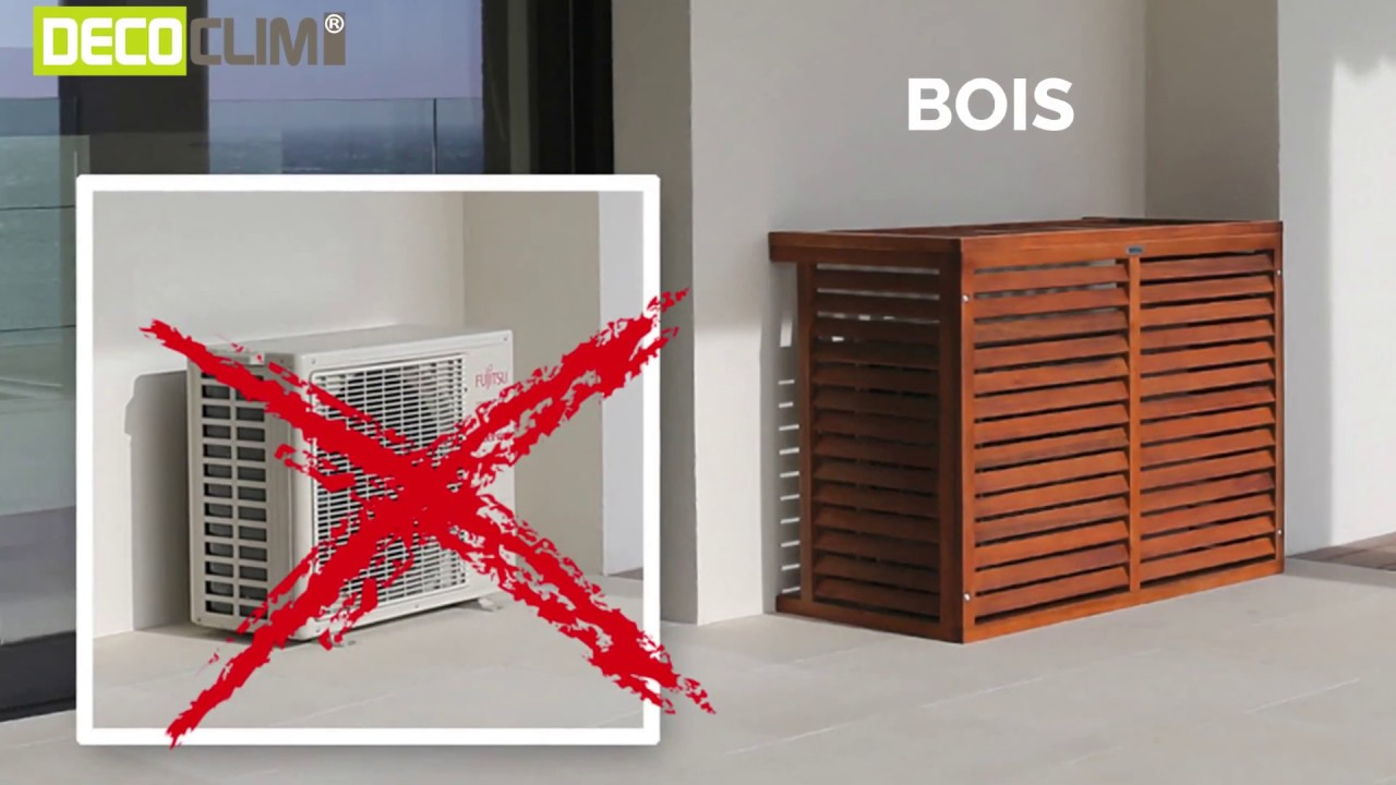 Cache Clim Pas Cher decoclim® - cache climatisation en bois exotique - decoclim