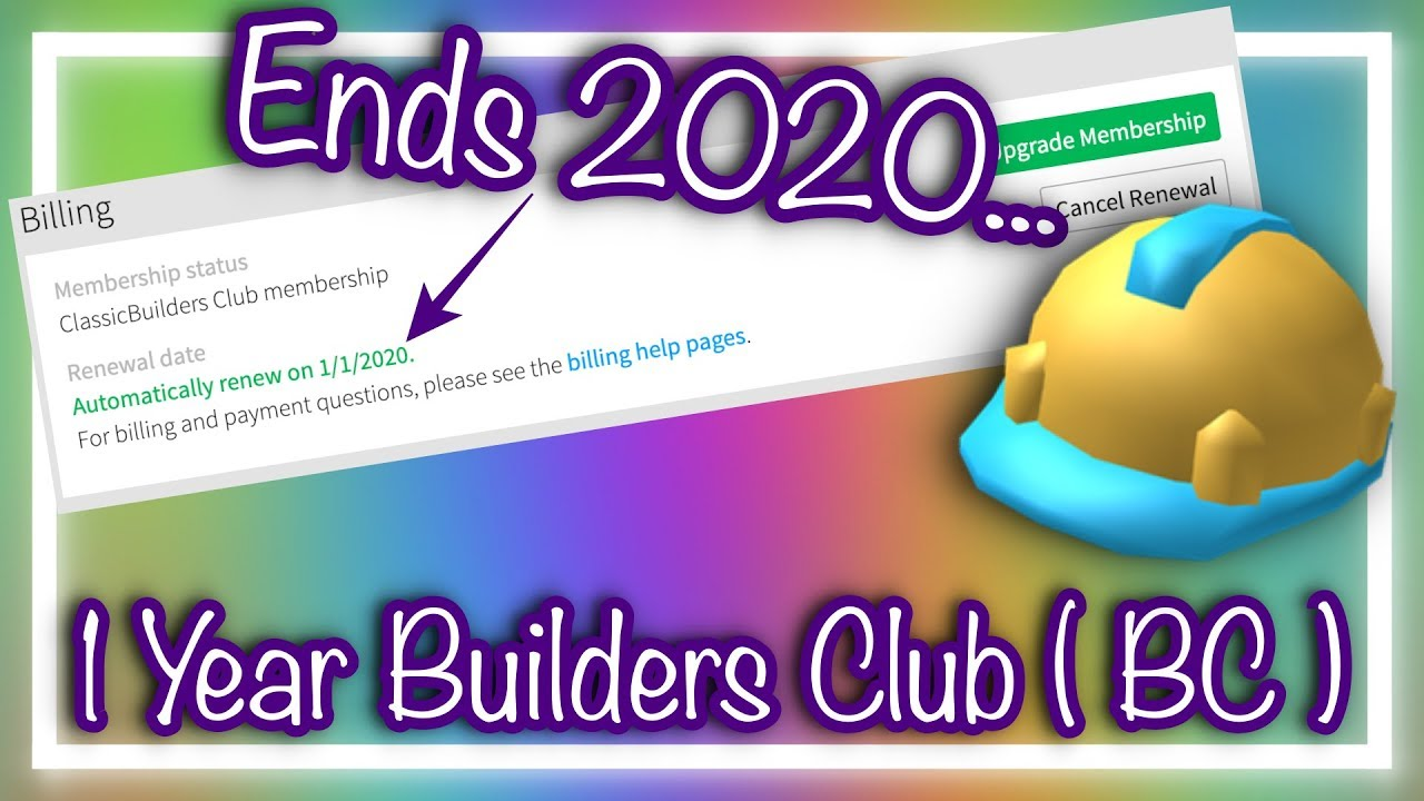 Buying 1 Year Builders Club Roblox Youtube