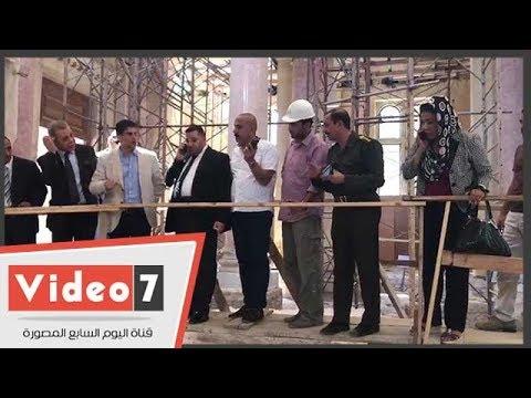 وفد إعلام البرلمان يتفقد أعمال التطوير بالمعبد اليهودى بالإسكندرية  - 17:23-2018 / 7 / 11