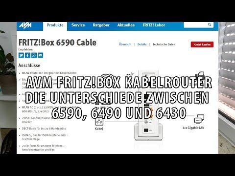 AVM FRITZBox Kabelrouter: Unterschiede zwischen 6590, 6490 und 6430 im Vergleich