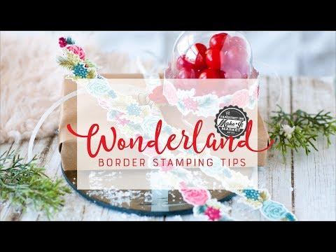 Papertrey Ink Make it Market Wonderland Holiday Kit: Floral Border Stamping