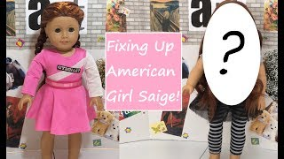 Fixing Up TLC  American Girl Doll Saige ~ agartsystudios