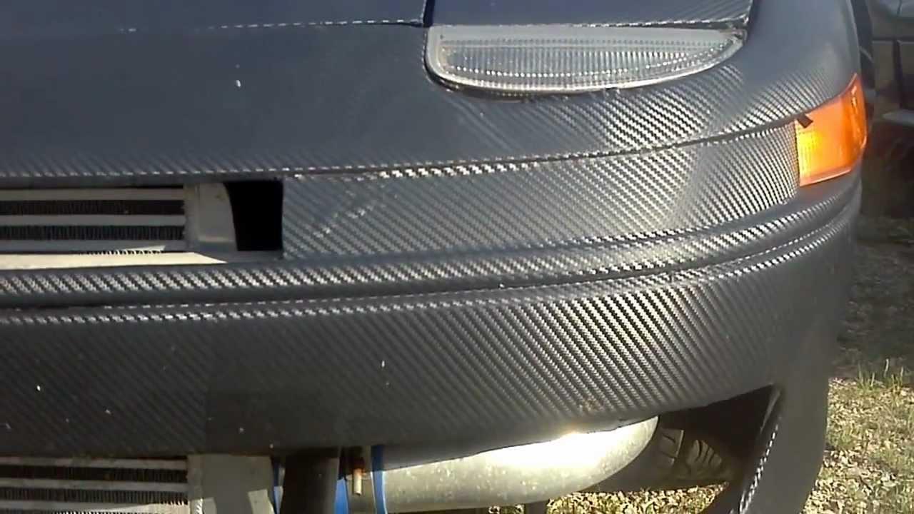 91 3000gt Vr4 Matte Black Carbon Fiber Wrap Youtube