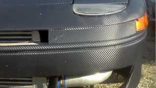 91 3000gt vr4 matte black carbon fiber wrap