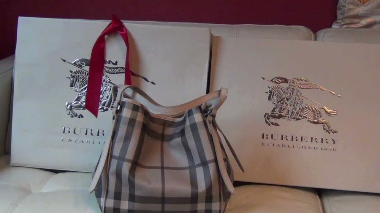 Burberry Canterbury Tote - YouTube 68183a5277