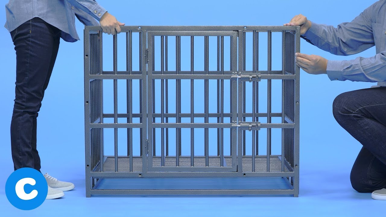 How To Assemble the Frisco Ultimate Heavy Duty Steel Metal Dog Crate ...