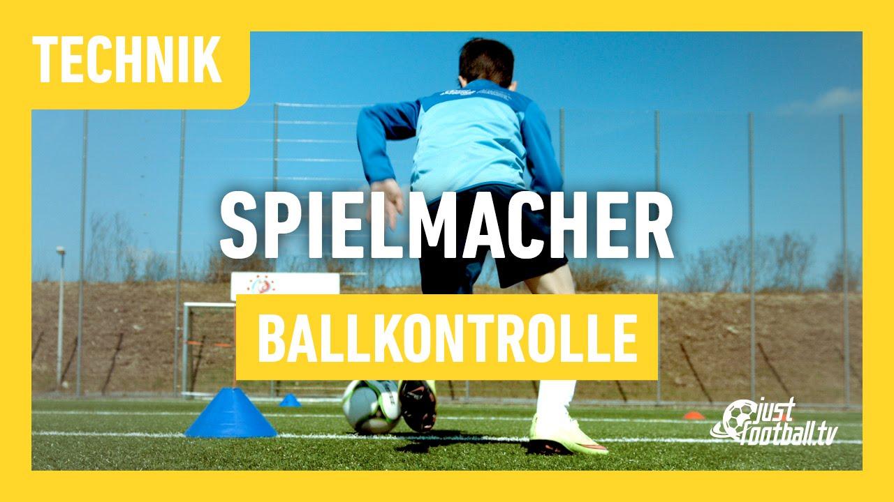 Fussballtraining Spielmacher Ballkontrolle Technik