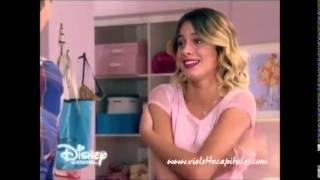 Violetta 3 : Leon tenia ganas de besar a Vilu al ver el video  (Capitulo 64 HD)