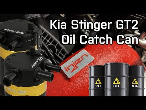 ADD W V. Baffled Dual Inlet Oil Catch Can Kit with Injen Intakes | Kia Stinger GT