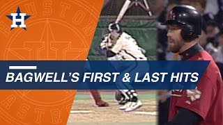 A look at Bagwell's first and last hits in the Majors