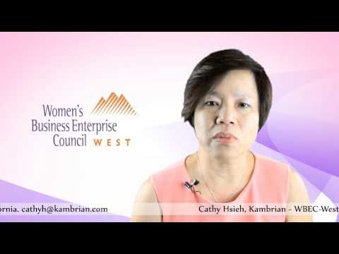 2012 Women's Business Enterprise. WBEC-West Regional Forum Vice Chair Cathy Hsieh