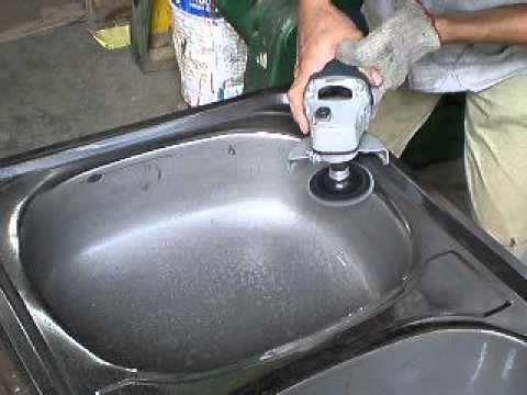 Kitchen Sink Stainless Steel Weld Removal And Polishing