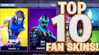 TOP 10 FORTNITE BATTLE ROYALE CUSTOM SKINS!